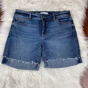 Ann Taylor LOFT Jean Shorts 27/4 Rough Hem